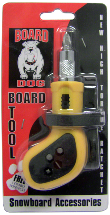SNOWBOARD RATCHET TOOL ALL-IN-ONE With 5 BITS BOARD DOG Snow Tool by