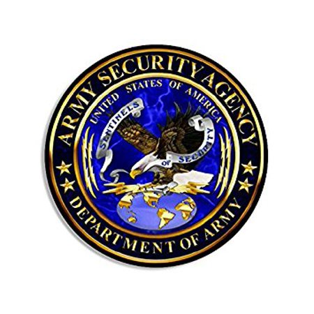 ROUND Army Security Agency ASA Seal Sticker Decal (signal intelligence decal logo) Size: 4 x 4 inch