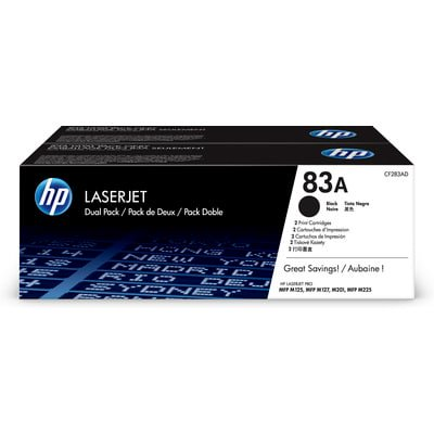 Black Toner Unit - HP 83A 2-pack Black Original LaserJet Toner Cartridges