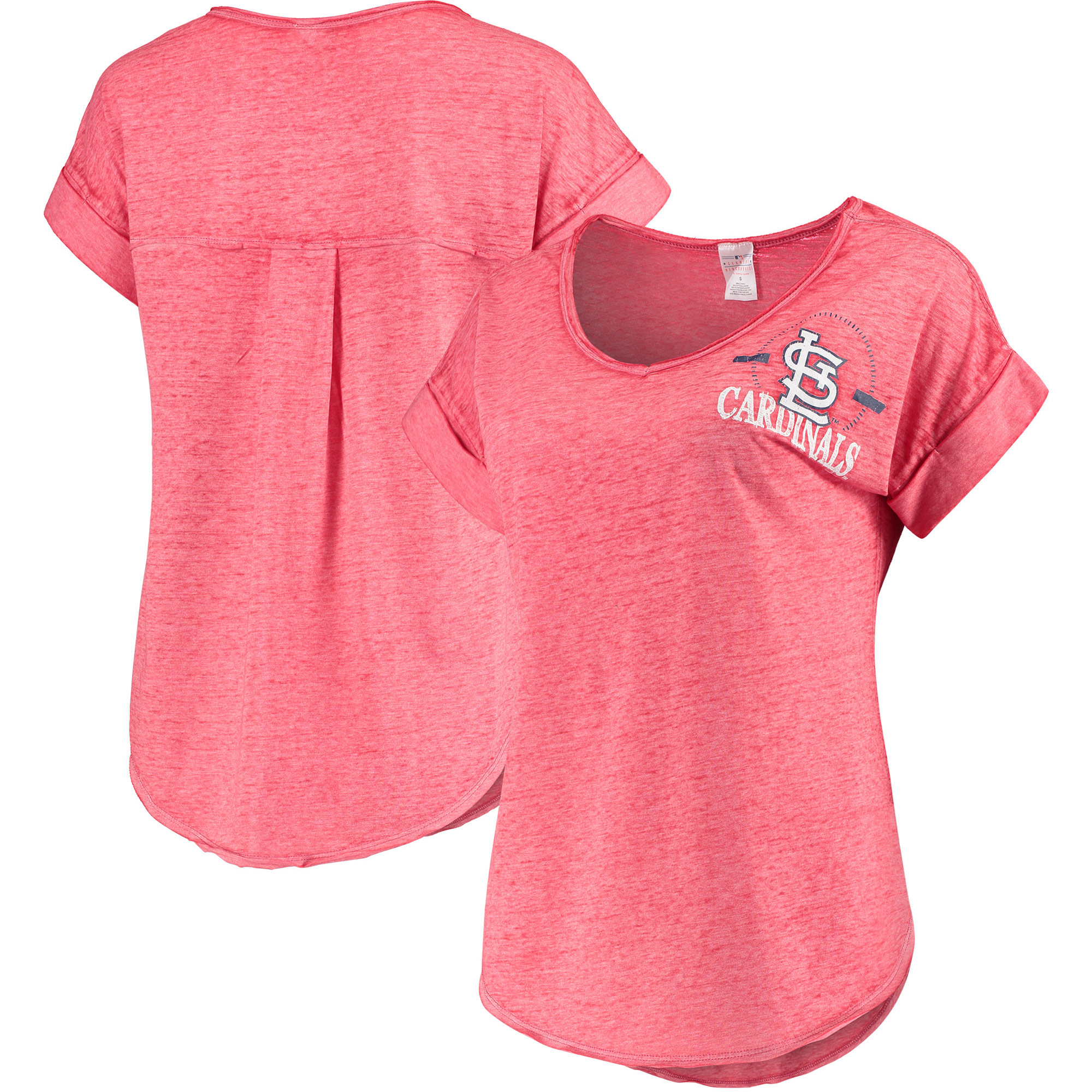 Women's Concepts Sport Heathered Red St. Louis Cardinals Crosspoint T-Shirt