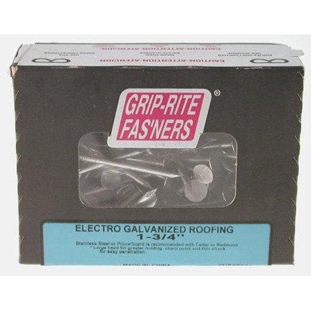 - Grip-Rite 1 in. Electro Galvanized Roofing Nails (5 lb. box)