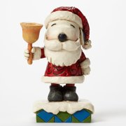 Heartwood Creek Peanuts Collection 4045875 Ringing in the Holiday Cheer Santa Snoopy with Bell by Enesco