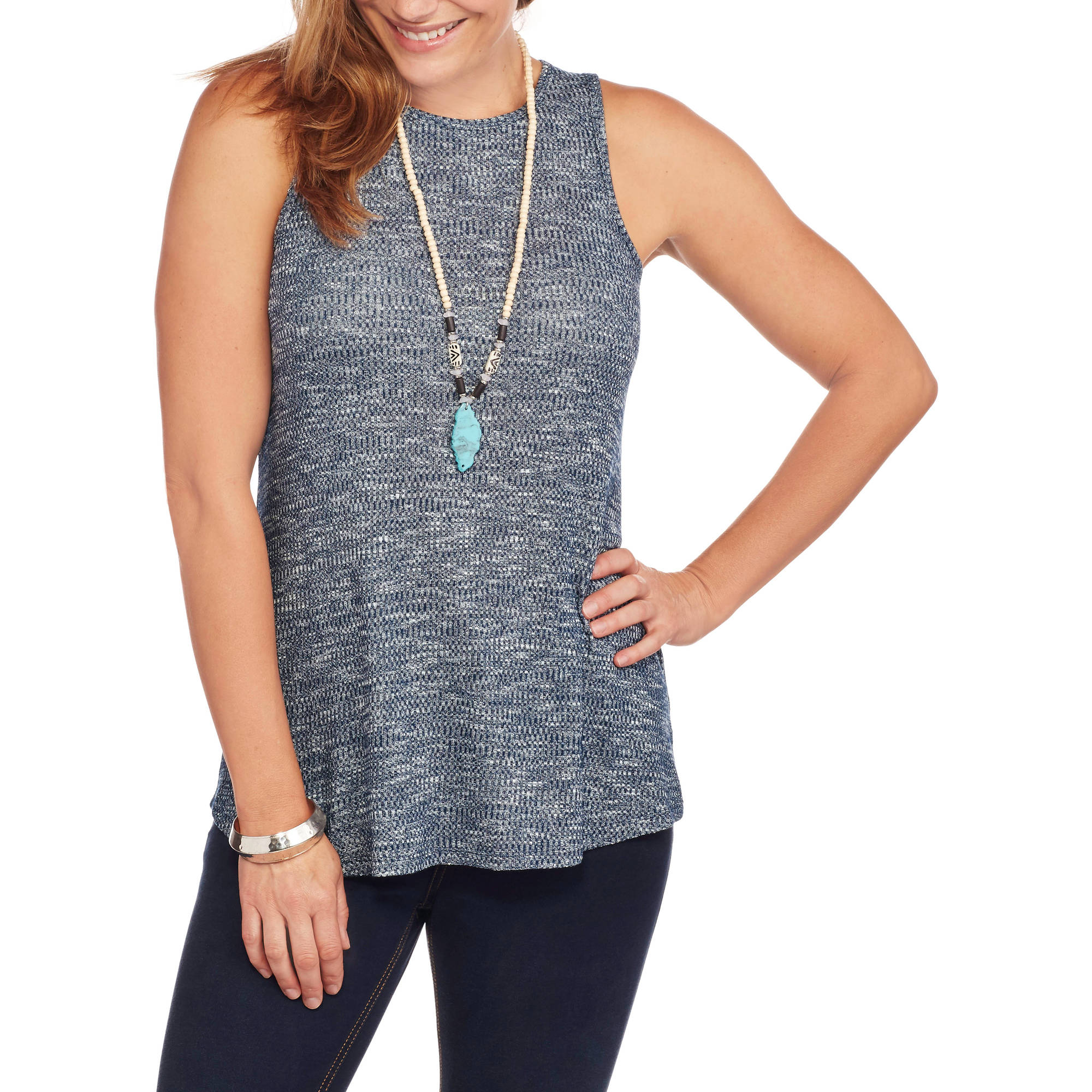 Faded Glory Women's Soft Ribbed Swing Tank Top