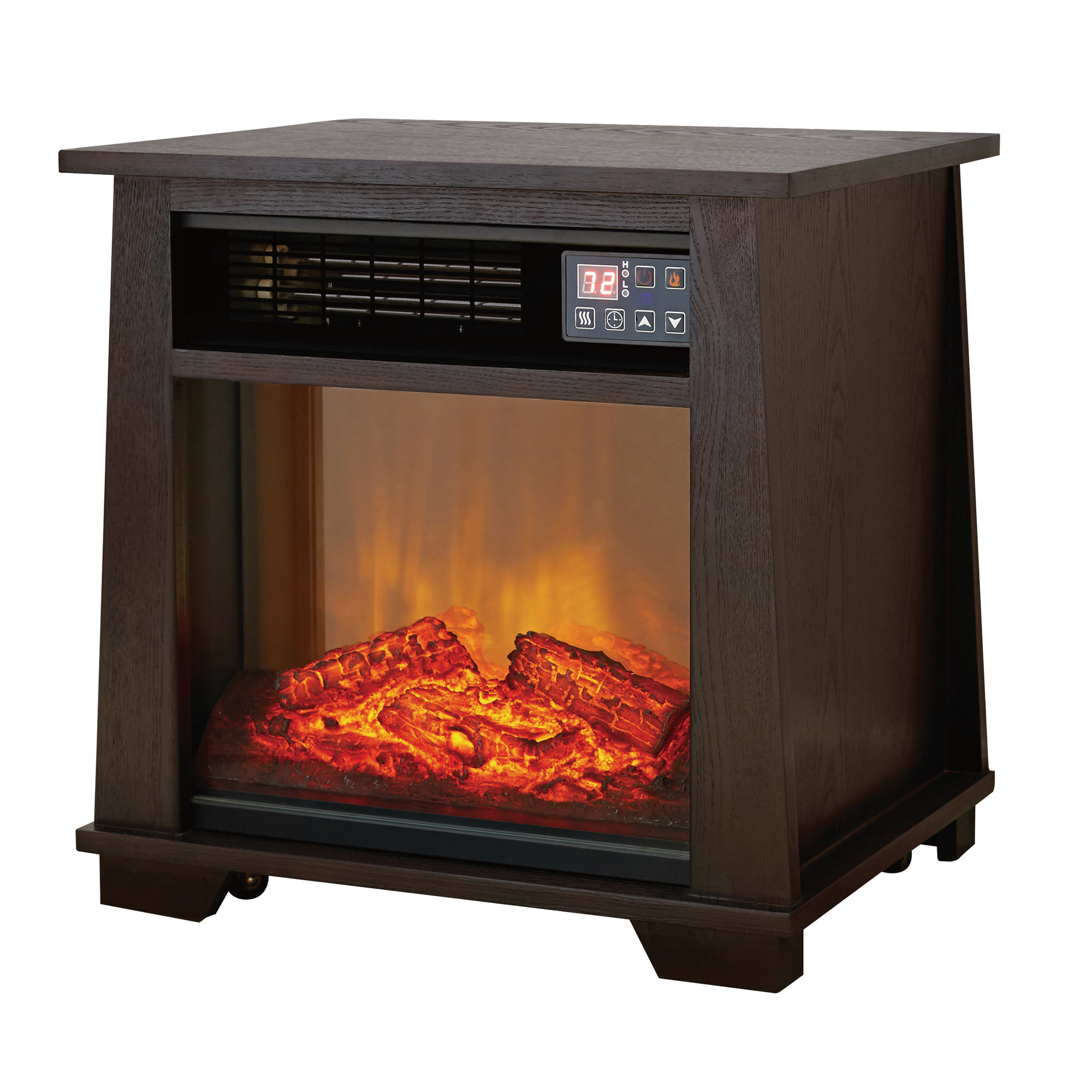 Mainstays Infrared Electric Space Heater, dark oak by Ningbo Konwin Electrical Appliance Co.,Ltd
