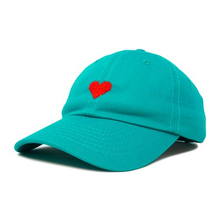 DALIX Pixel Heart Hat Womens Dad Hats Cotton Caps Embroidered Valentines -
