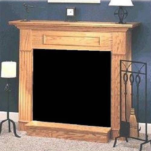Oak Wood Cabinet Surround for DBX24 and DFX24 Fireplace - Honey Oak