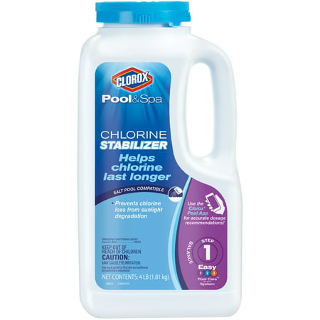Clorox Pool&Spa Pool Chlorine Stabilizer, 4 - Pool Spa Supply