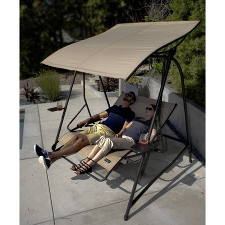 Cloud 9 Reclining Lounge Swing With Canopy Walmart Com