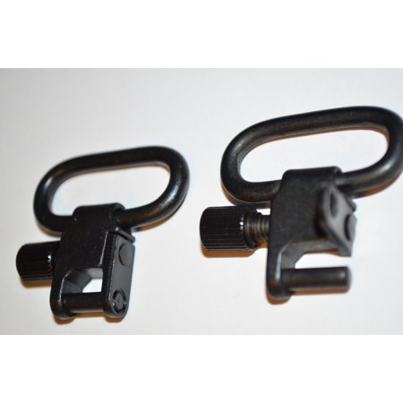 (PAIR) Mini Rifle / Shotgun sling stud swivel mount Spring loaded Shotgun Sling Swivel