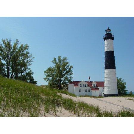 LAMINATED POSTER Big Sable Lighthouse Beach Lighthouse Lake Michigan Poster Print 24 x (Big Sable Lighthouse)