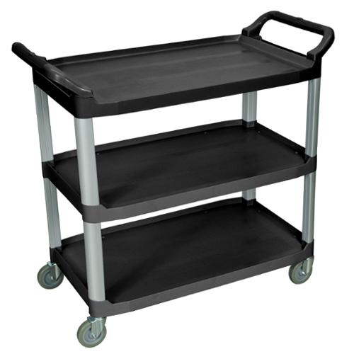 Black 3-shelf Serving Cart SC13-B Single