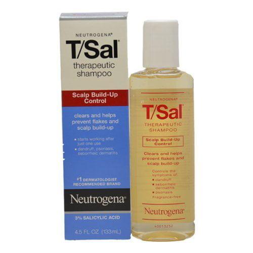 Neutrogena T/Sal Shampoo, Scalp Build-up Control, 4.5 fl oz (Pack of 2)