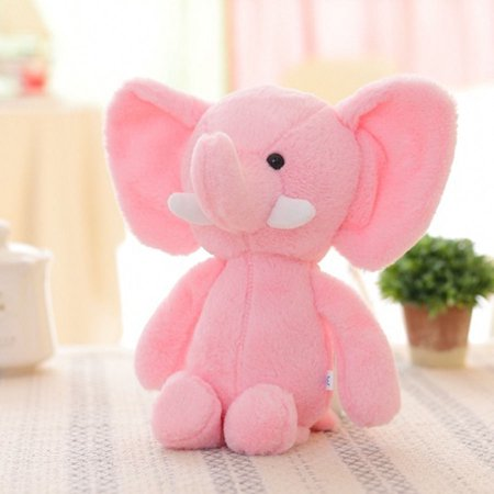 The Noble Collection Baby Kid's Animal Soft Plush Toy Mini Elephant Stuffed Animals Doll -