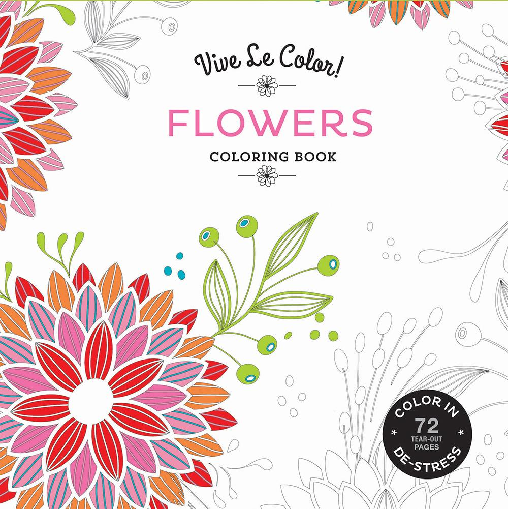 Vive Le Color! Flowers Coloring Book (Paperback)