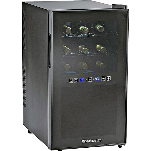 Wine Enthusiast  18-Bottle Dual-Zone Free Standing Wine Cooler