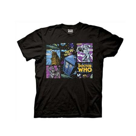 Doctor Who Comic Villains Men's Black T-Shirt - Villain Couples
