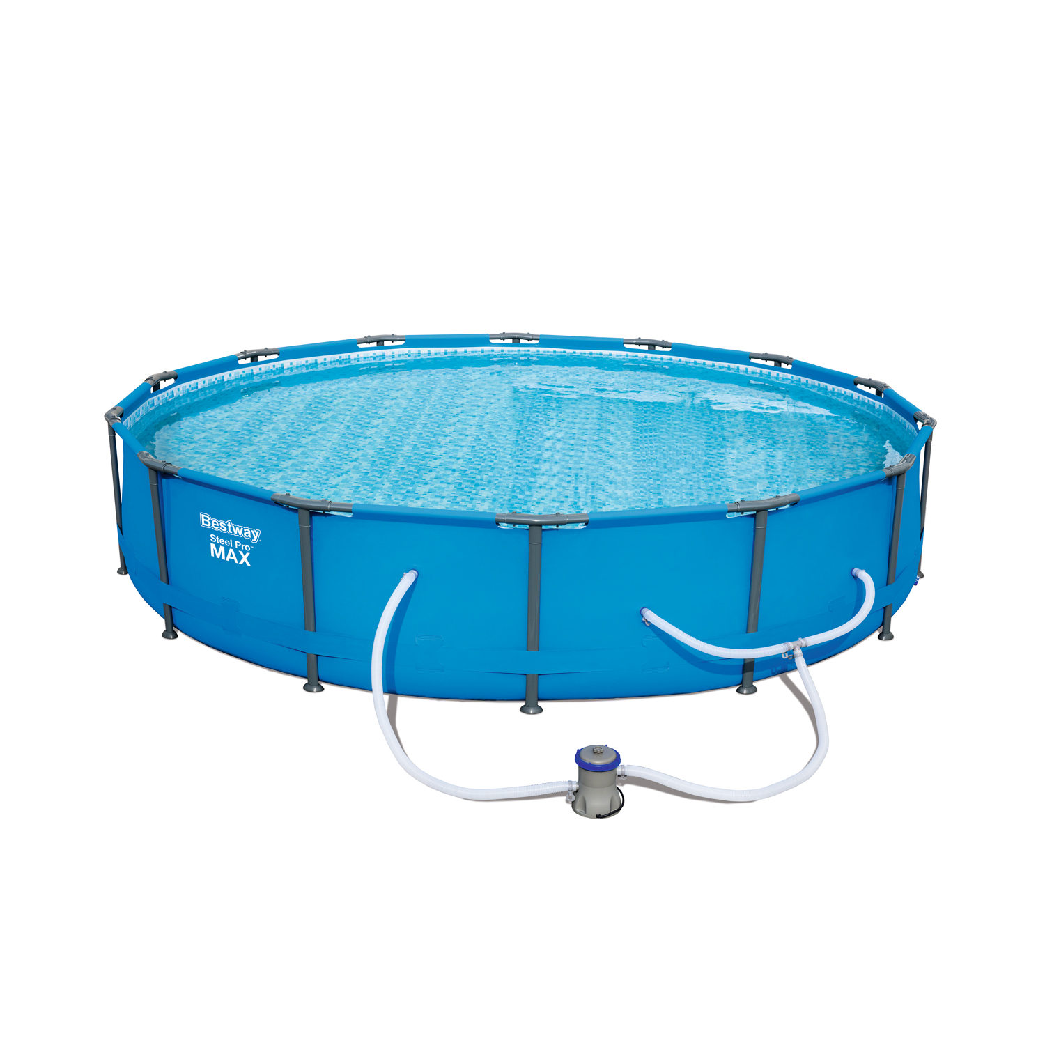 """Bestway Steel Pro MAX 14'x33"""" Above Ground Swimming Pool Set with Filter Pump"""