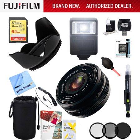 Fujifilm Fujinon XF 18mm (27mm) F2.0 R X-Mount Lens - 16240743 + 64GB Ultimate Filter & Flash Photography