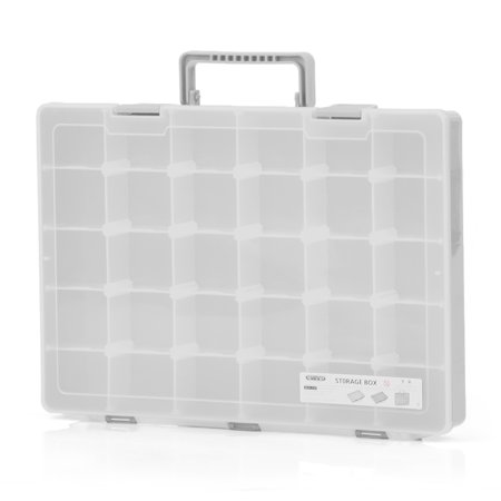 Plastic Toy Organizer Parts Storage Box Multiple Compartments Slot Hardware Box Organizer Craft Cabinet Tools Components Container Accessories Storage Case