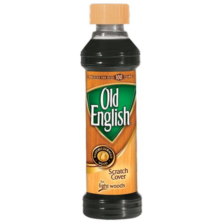 Old English Stage (Old English Scratch Cover For Light Woods, 8oz Bottle, Wood Polish)