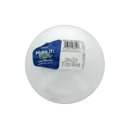 "Make It Fun FloraCraft Styrofoam 6"" Half White Ball, 1 Each"