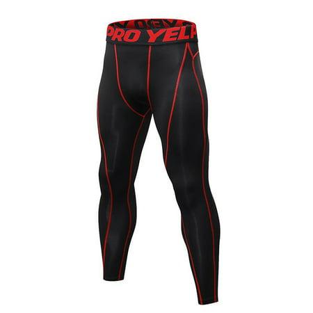 Big Savings/Clearance, EFINNY US Mens Boys Compression Base Layer Quick Dry Long Workout Sports Pants thumbnail