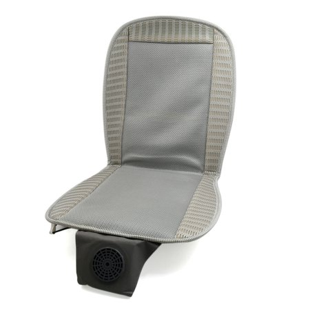 light gray mesh cooler seat cushion car vehicle massage cooling chair pad cover. Black Bedroom Furniture Sets. Home Design Ideas
