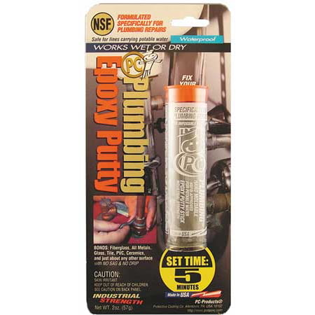 Putty, 2 Part Plumbing Epoxy, 2 Oz Pkg, Gray PC PRODUCTS 025598