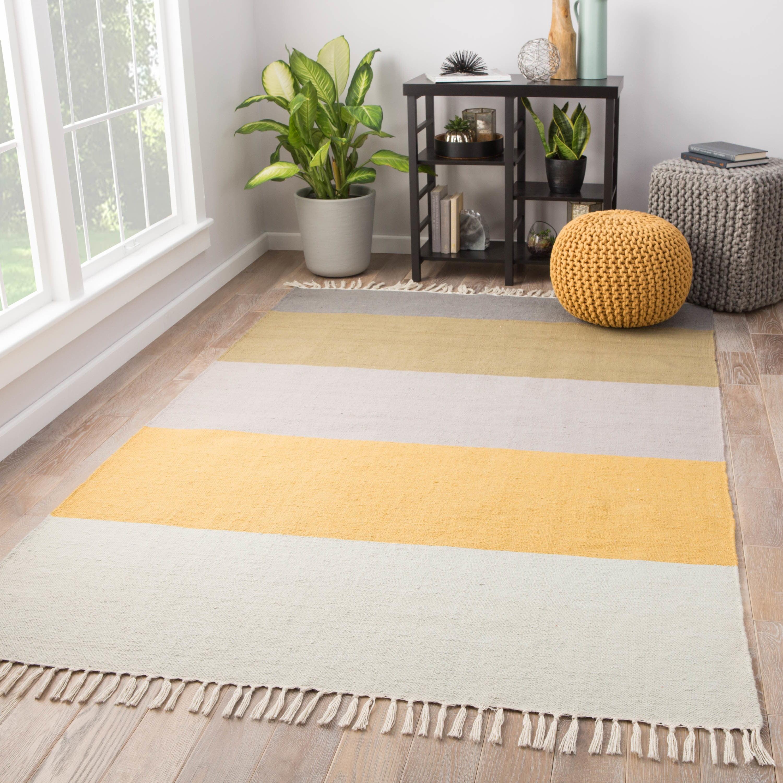 Kitchen Garden Jaipur: Juniper Home Tahoe Indoor/Outdoor Stripe Yellow/Tan