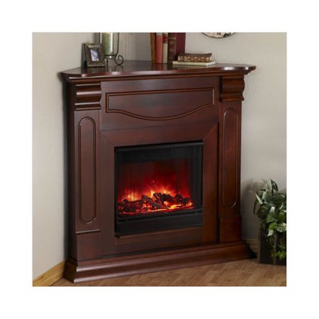 Real Flame Cambridge Corner Electric Fireplace In Mahogany Finish