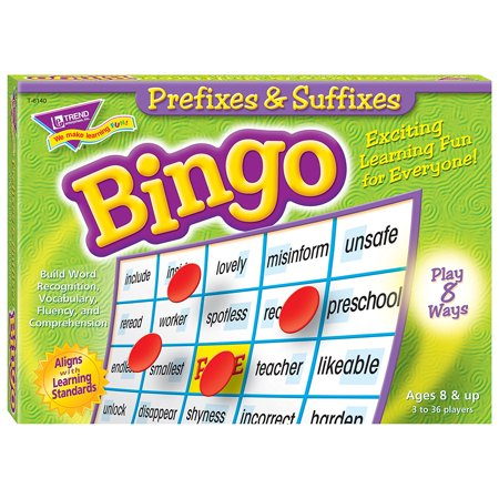 Prefixes & Suffixes Bingo Board Game, This game's traditional format can be played 8 ways, so everyone can get in on the learning fun. The best choice for.., By Trend Enterprises (Best Workout For Bingo Wings)