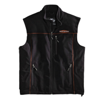 Harley-Davidson™ Men's Fleece Mid-Layer Vest Windproof, Black. 98567-16VM