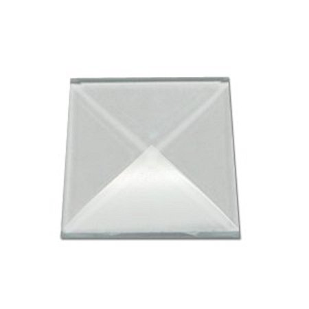 Stained Glass 1 x 1 Clear Square Bevels Pack of 10, 1