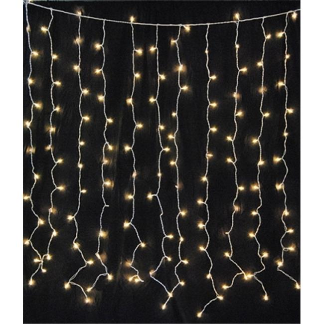 Queens of Christmas WL-CUR150CL-IN-WTW Incandescent Twinkle Light Curtain
