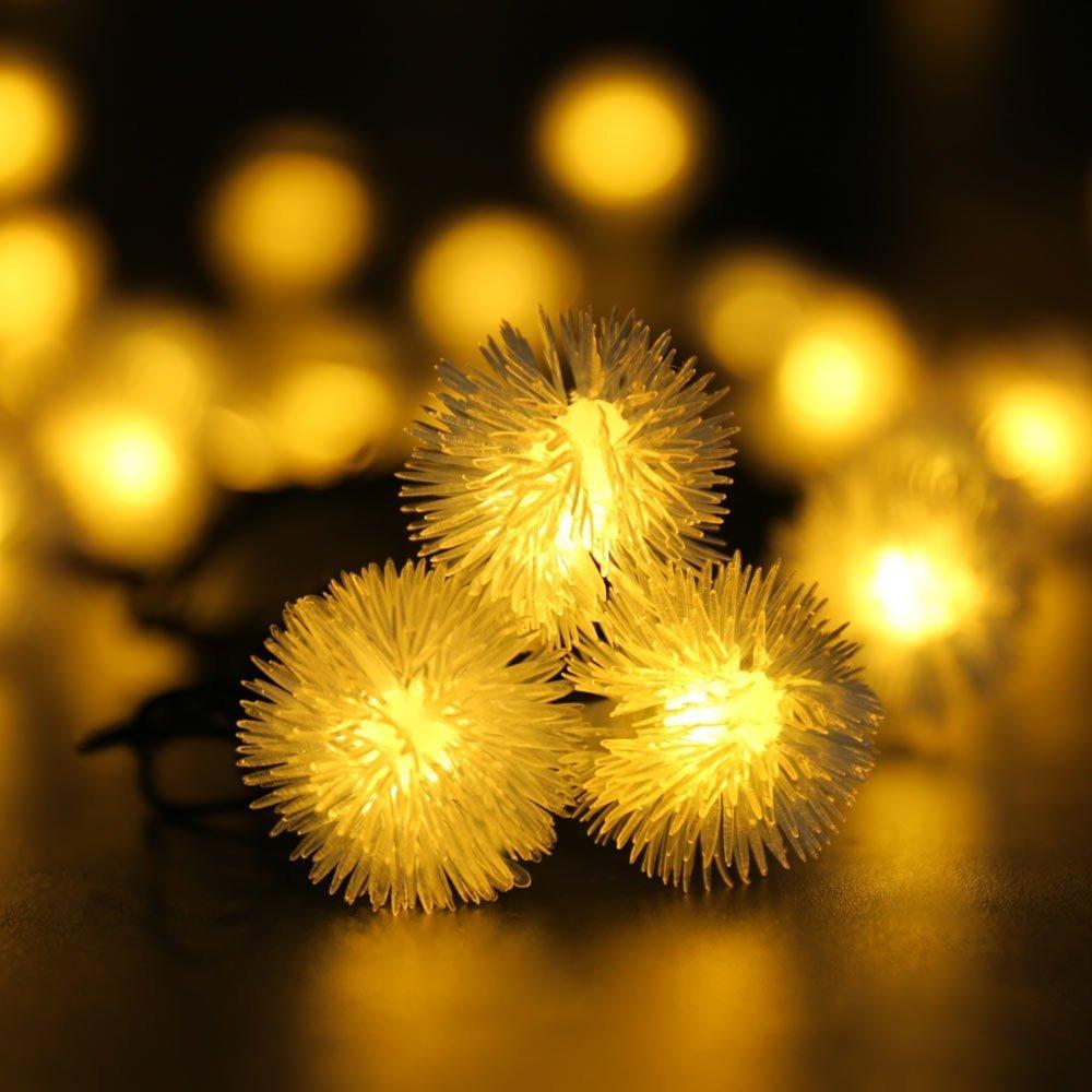Super Led Solar String Lights Christmas Lights 23Ft 50 Led Fairy Chuzzle Easy Diy Christmas Decorations Tissureus