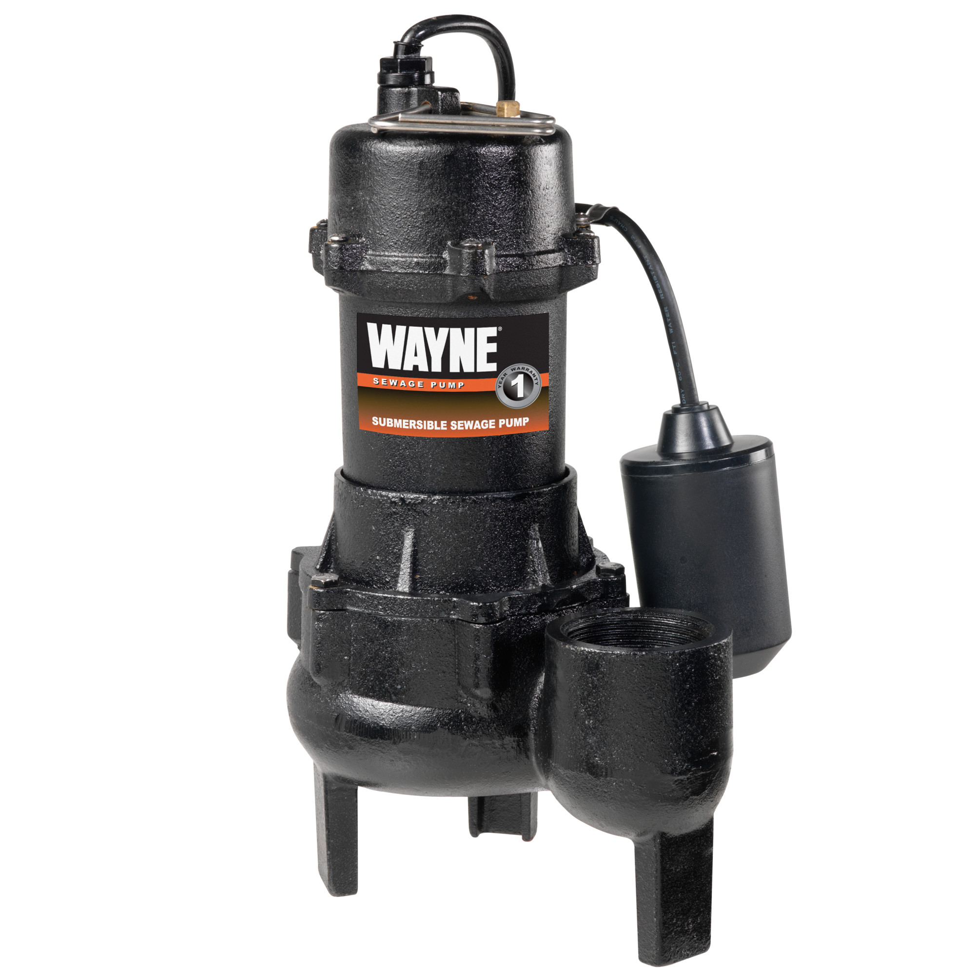 WAYNE RPP50 1/2 HP Cast Iron Submersible Sewage Pump with Automatic Switch