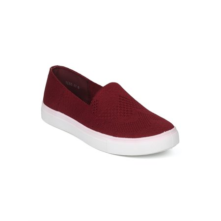 Army Navy Shoes (New Women Knitted Fabric Low Top Slip On Sneaker - 18003 By Refresh Collection)