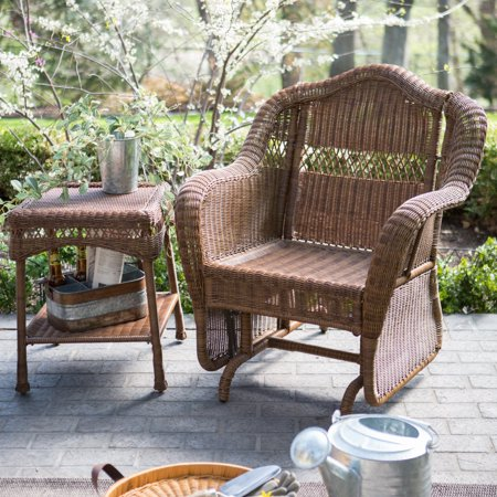 Sensational Coral Coast Casco Bay Resin Wicker Outdoor Glider Chair With Optional Cushion Lamtechconsult Wood Chair Design Ideas Lamtechconsultcom