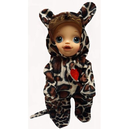 Leopard Halloween Costume For Baby Alive And Little Baby Dolls - Baby Doll Dress Halloween Costume