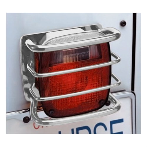 Smittybilt Euro Tail Light Guards Black 8665