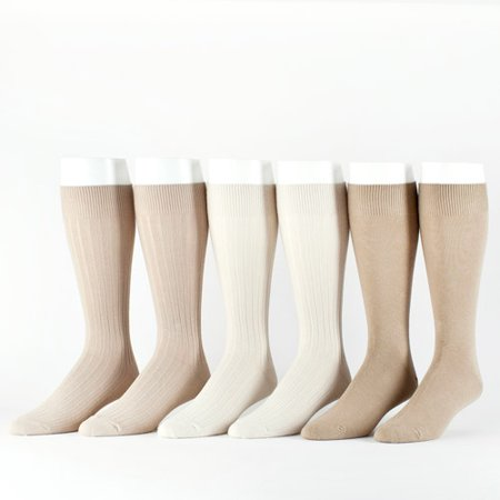 Men's Cotton Rib Crew Socks, 6 (Shadow Rib Socks)