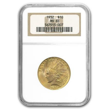 Platinum Ngc Coin Set - 1932 $10 Indian Gold Eagle MS-65 NGC