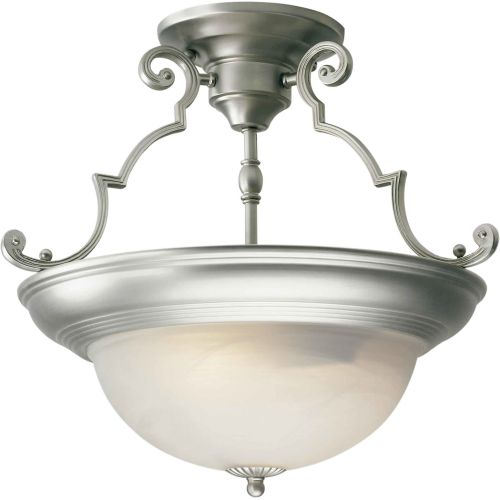 Forte Lighting 2298-02 Semi-Flush Ceiling Fixture from the Close to Ceiling Collection by Forte Lighting