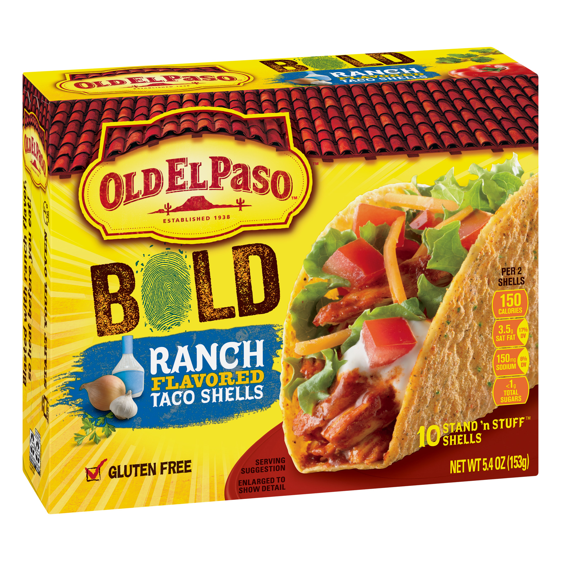 Old El Paso Stand 'N Stuff Bold Ranch Flavored Shells, 5.4 oz