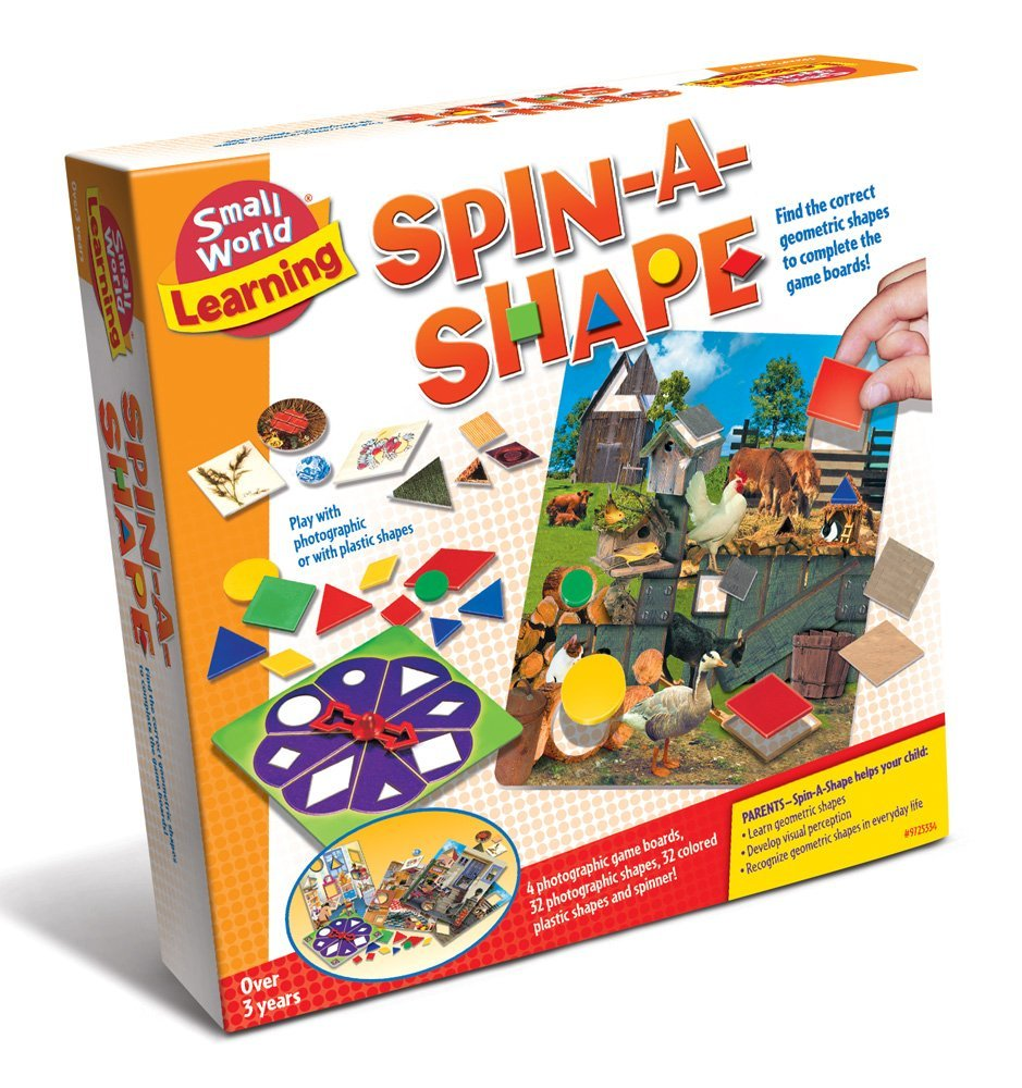 Learning Spin-A-Shape Game, Spin-A-Shape from Small World Learning is educational and fun for preschoolers and... by