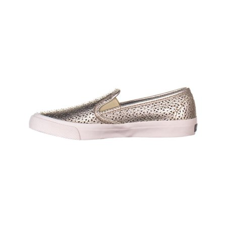 Sperry Top-Sider Seaside Perforated Slip On Fashion Sneakers, Platinum - image 5 of 6