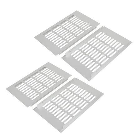 150mm x 250mm Aluminum Alloy Wardrobe Cupboard Ventilation Air Vent Grille 4pcs - image 1 of 1