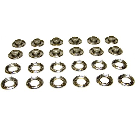 12 Grommets (Grommets, #4 *Rolled Rim Spur, Stainless Steel, Heavy Duty, 12 Piece Set, #4 Stainless Steel Grommets By Northwest Tarp Canvas Ship from US )