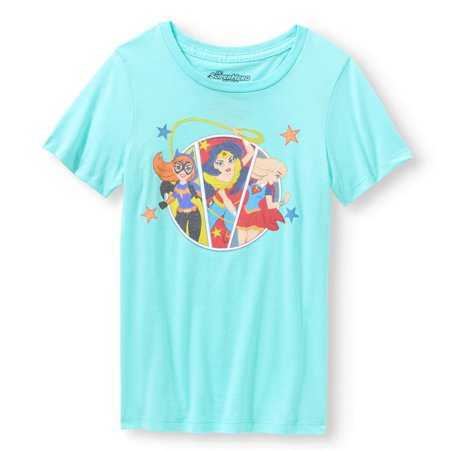 Wonder Woman, Batgirl and Supergirl Graphic T-Shirt (Little Girls & Big Girls)](Wonder Woman Shirt With Cape)