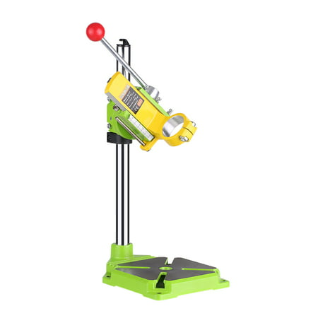 High Precision Electric Power Drill Press Stand Table Rotary Tool Workstation Drill Workbench Repair Tools Clamp Work Station with 0-90 Degree Rotating Fixed Frame for Drilling Collet Table